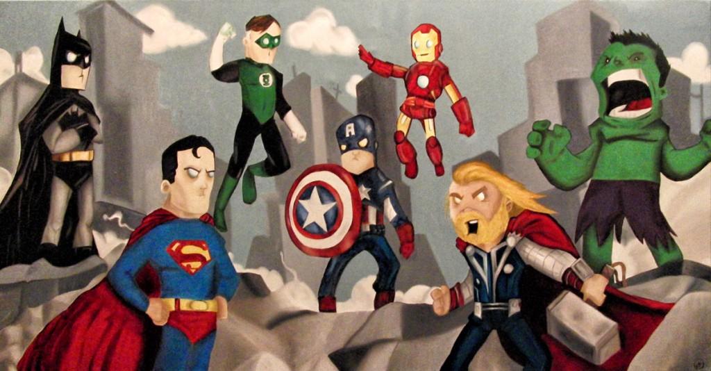 kb-peinture-super-heros-DC-vs-avengers-karine-bujold-octobre-14-a