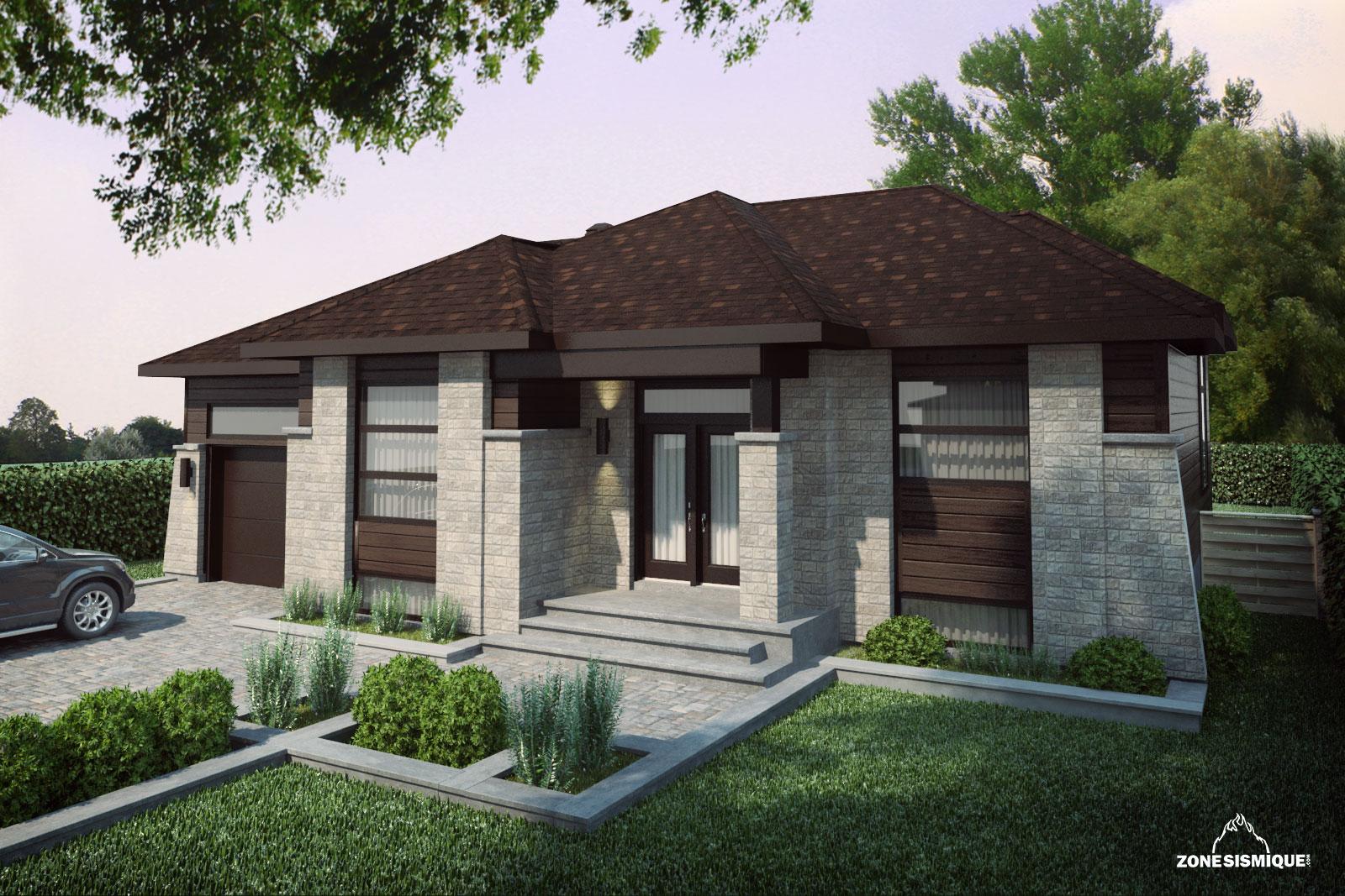 Maisons malie zone sismique design visualisation 3d photor aliste - Couleur de gevel de maison moderne ...