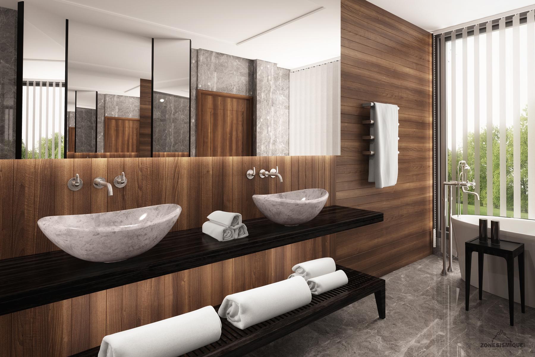 Salles De Bain Unik _ Zone Sismique Design Visualisation 3d
