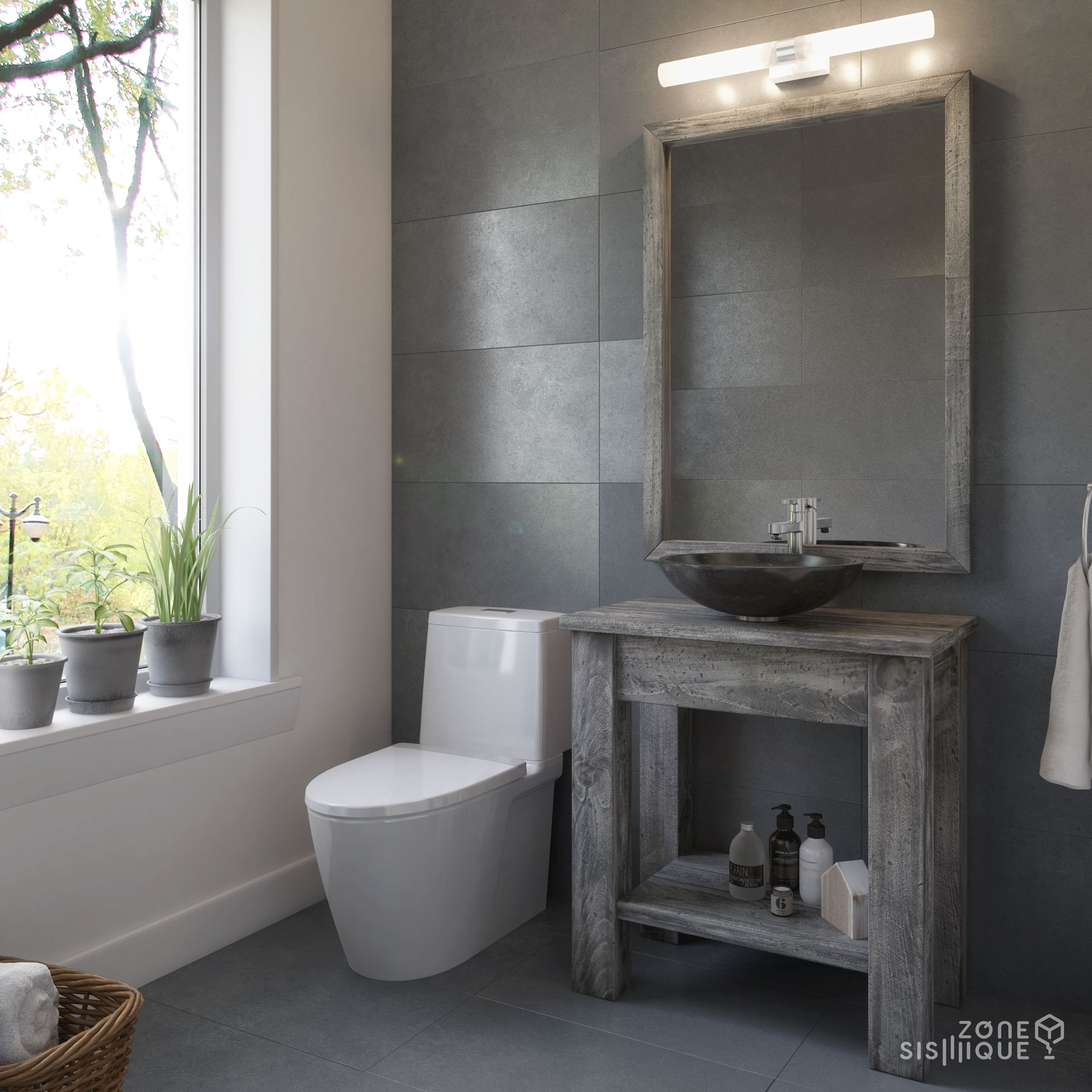 Salle de bain en 3d latest un rendu d de salle de bains - Conception salle de bain 3d ...
