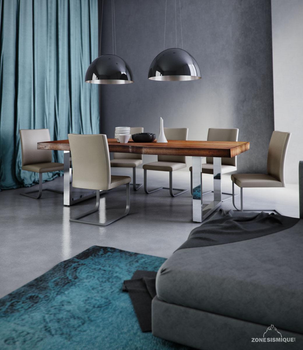 Zone sismique colibri lifestyle salle a manger tom 3d v1 for Salle a manger 3d
