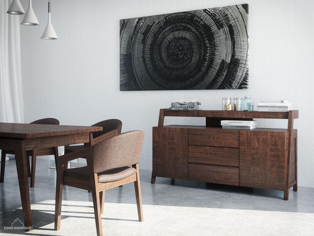 Zone sismique colibri lifestyle salle a manger zen 3d for Salle a manger style zen