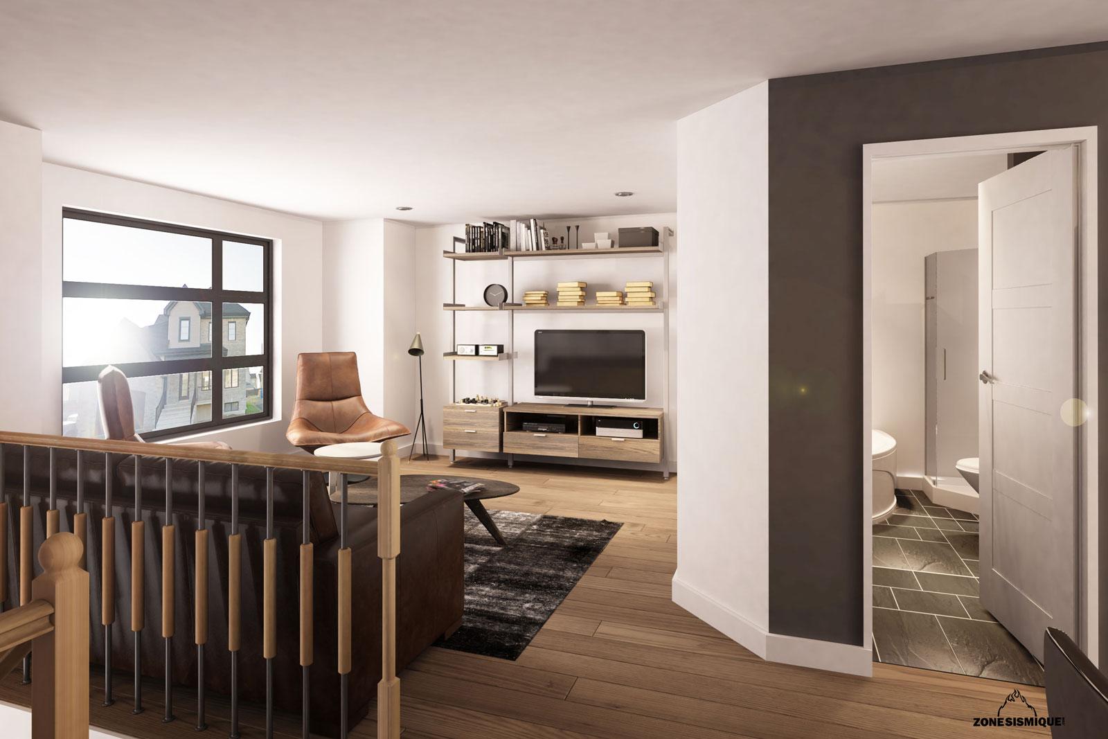 Zone sismique habitex construction maison 2 moderne 3d for Salon construction maison