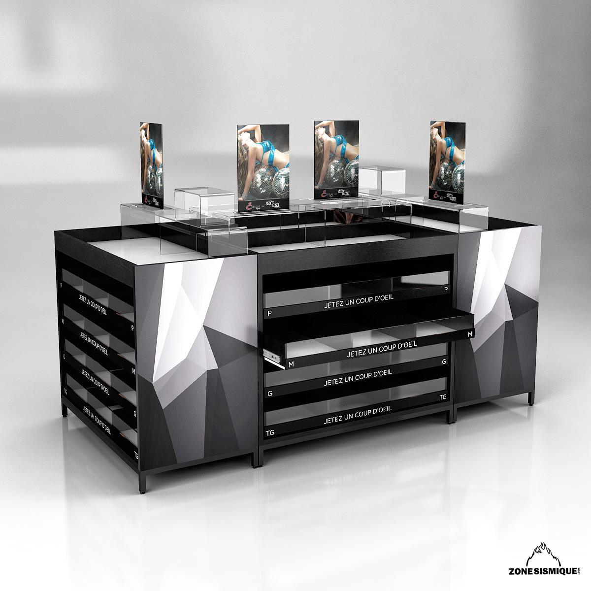 zone sismique presentoir lingerie v1 zone sismique. Black Bedroom Furniture Sets. Home Design Ideas