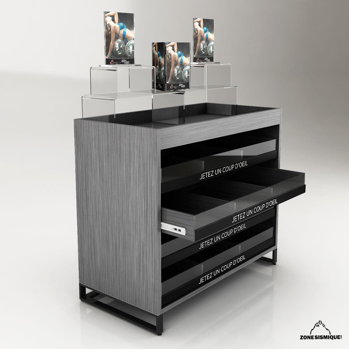 zone sismique presentoir lingerie v2 zone sismique. Black Bedroom Furniture Sets. Home Design Ideas