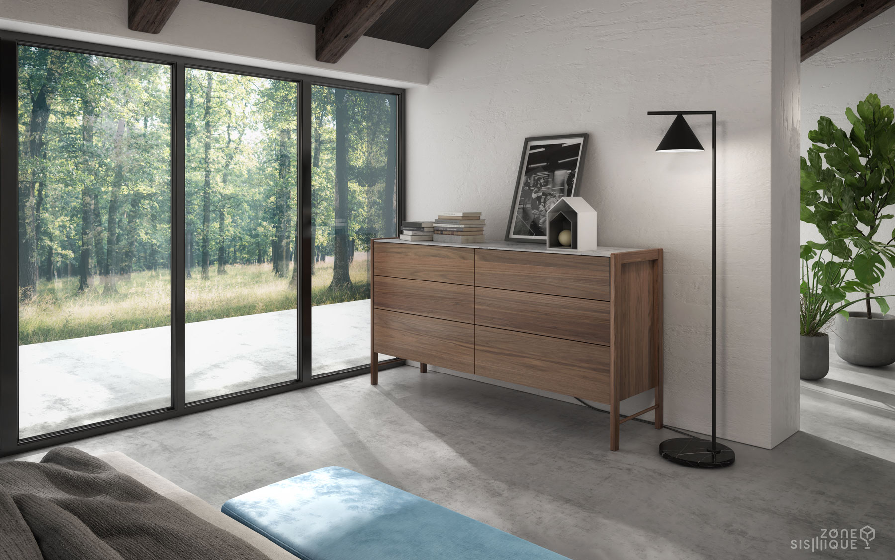 zone-sismique-huppe-chambre-mobilier-lit-moderne-Frida ...