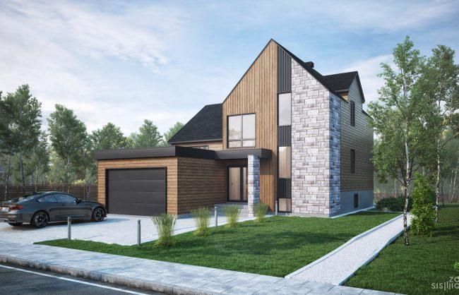 zone-sismique-habitations-Jutras-bungalow-Classique-Garage-Etage-3d-exterieur